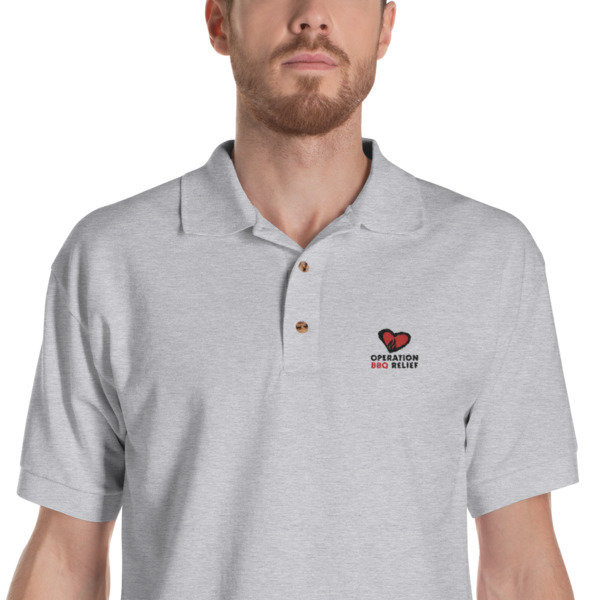 Embroidered OBR Polo Shirt (Grey)
