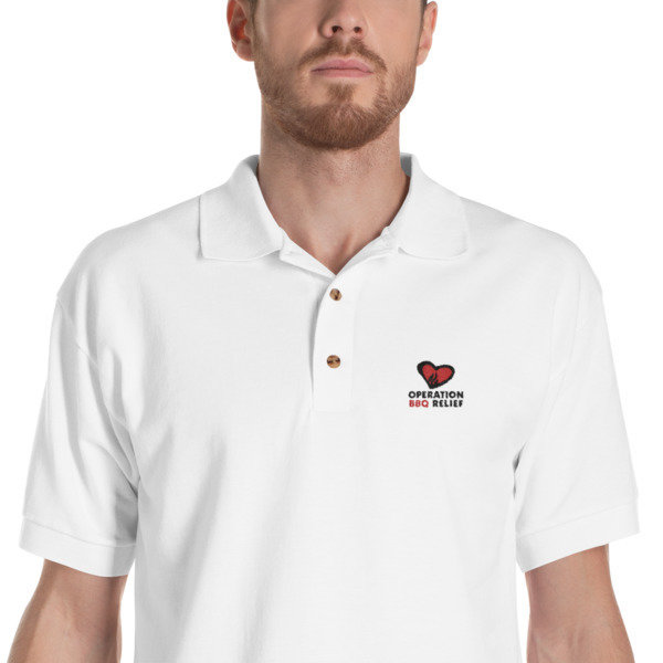 Embroidered OBR Polo Shirt (White) 60030