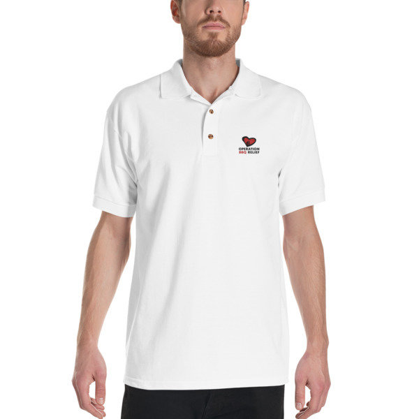 Embroidered OBR Polo Shirt (White)