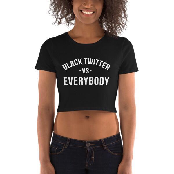 ISSA • Black Twitter Crop Top