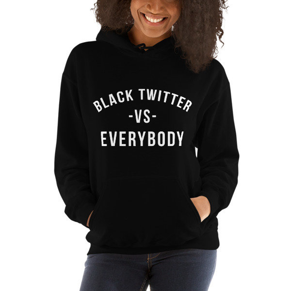 ISSA • Black Twitter Hooded Sweatshirt