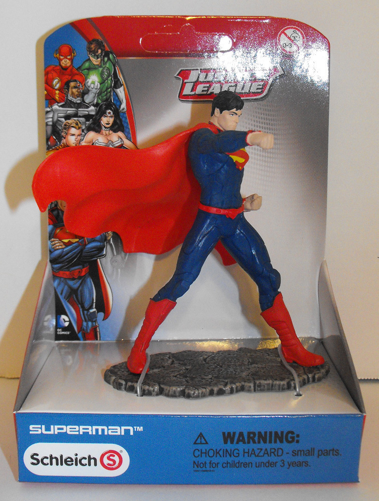 Superman Fighting - Justice League Figure - New in Box - Schleich