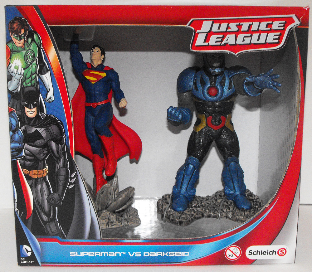 Superman v Darkseid Justice League Figures - New in Box - Schleich