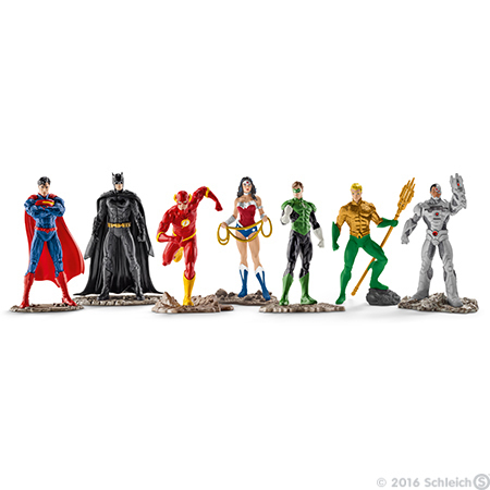 The Justice League Big Set of 7 Figurines - Superman Batman The Flash Wonder Woman