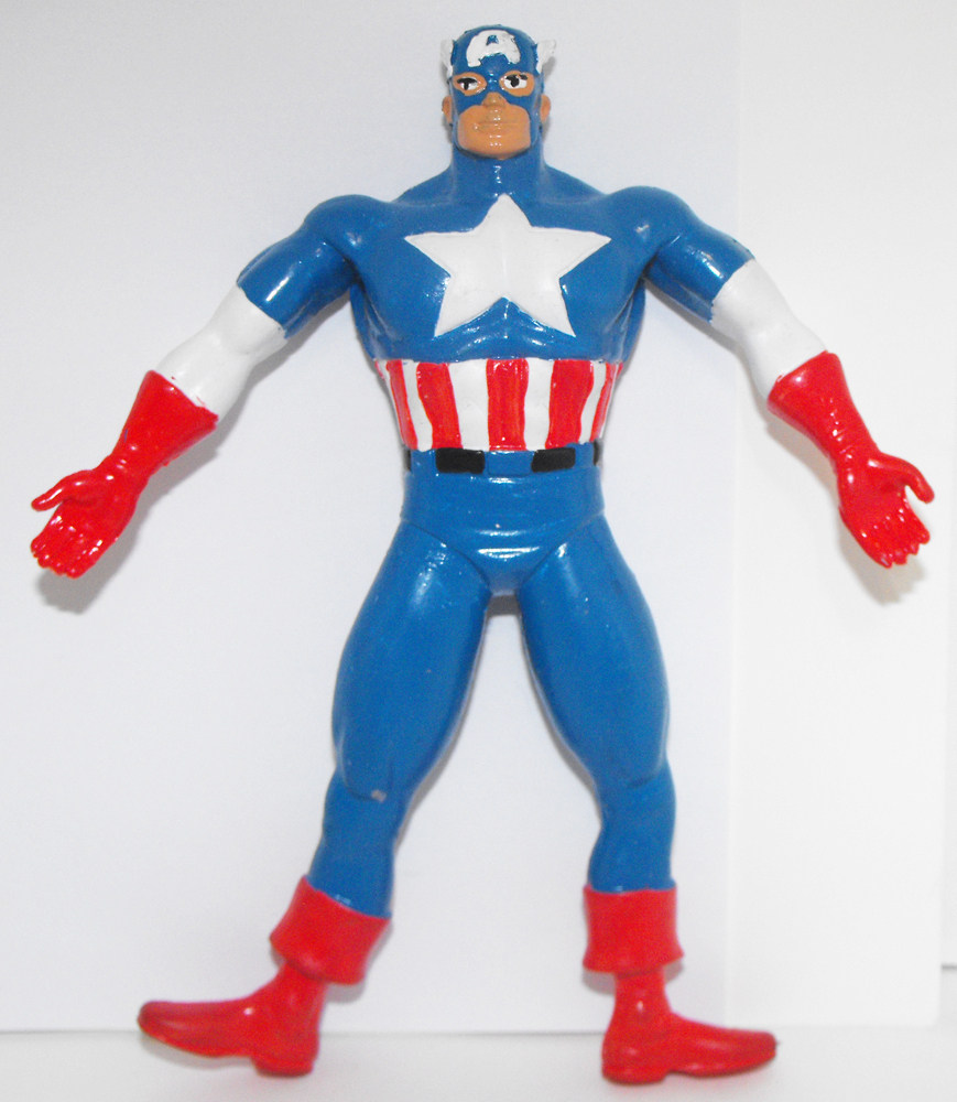 Vintage Captain America Bendable Figure