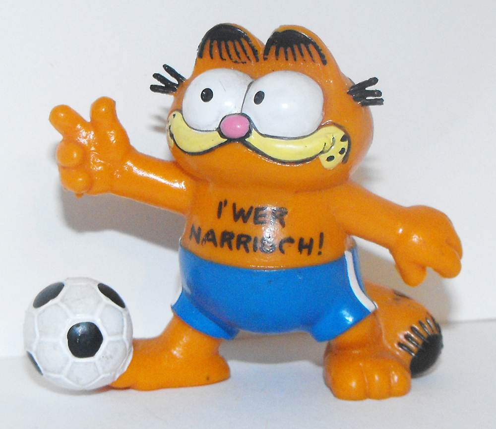 Garfield Playing Soccer Plastic Figurine