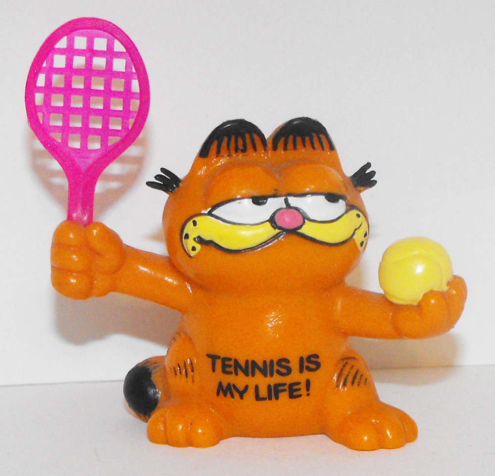 Garfield Playing Tennis Plastic Figurine