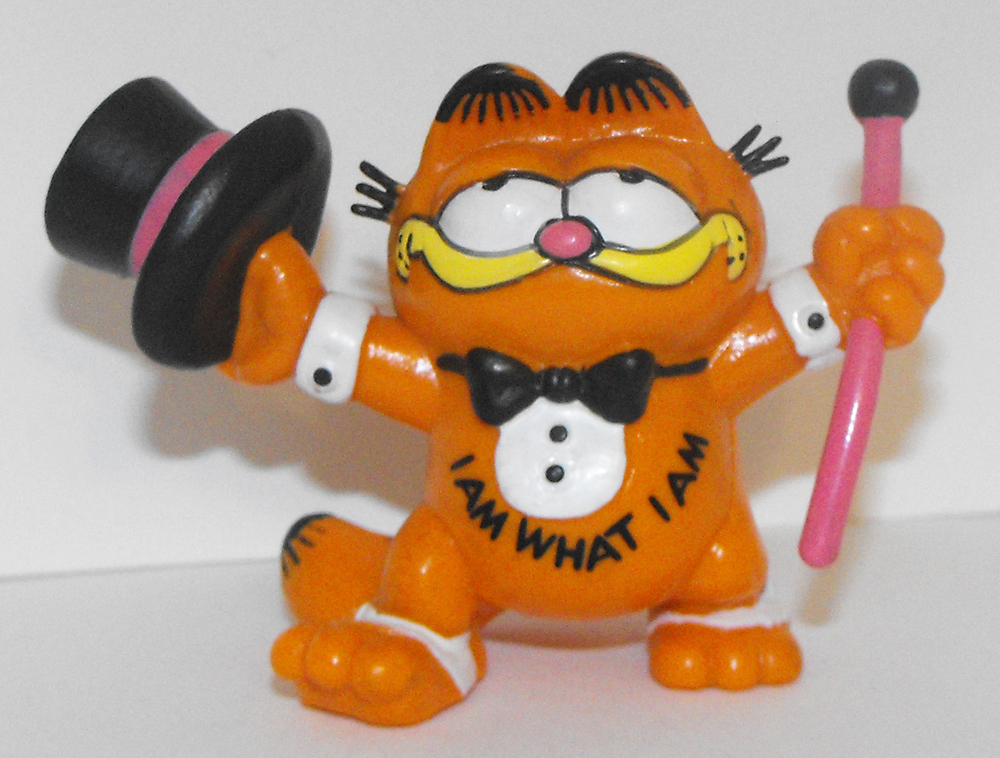 Garfield with Top Hat 2 inch Figurine
