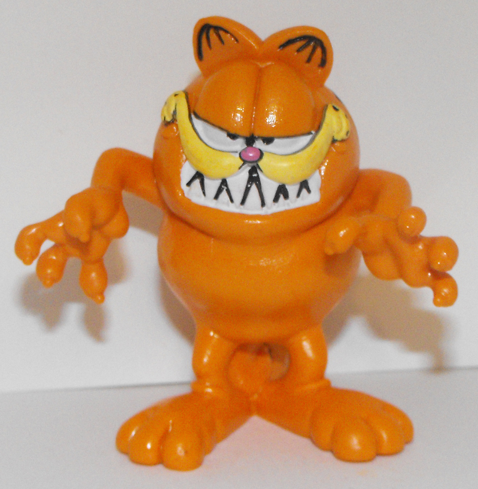 Garfield Growling 3 inch Plastic Figurine