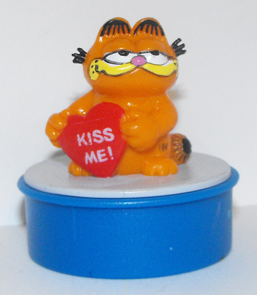 Garfield with Heart Kiss Me Blue Ink Stamp