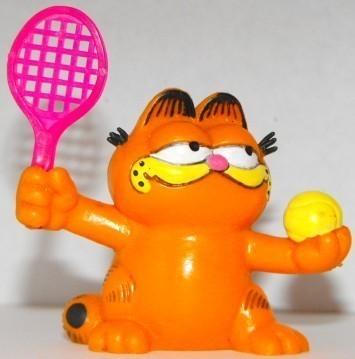 Garfield Playing Tennis  Plastic Figurine