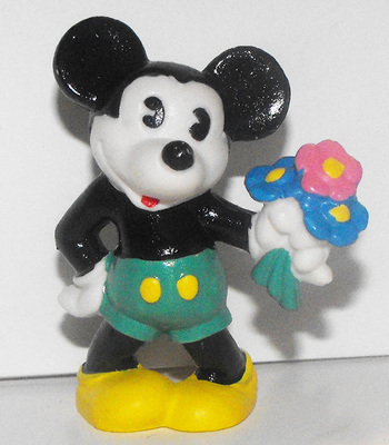 Mickey Mouse Flowers Color Classic 2 inch Plastic Figure