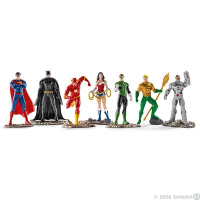 The Justice League Big Set of 7 Figurines - Superman Batman The Flash Wonder Woman