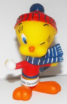 Tweety Bird with Snowball Plastic Figurine