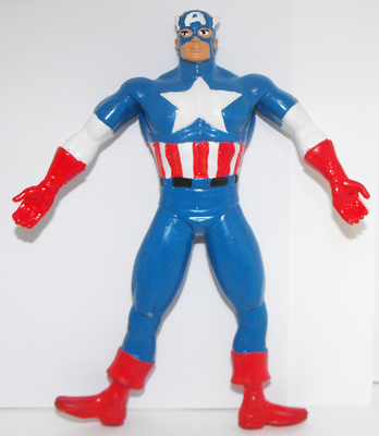 Vintage Captain America Bendable Figure