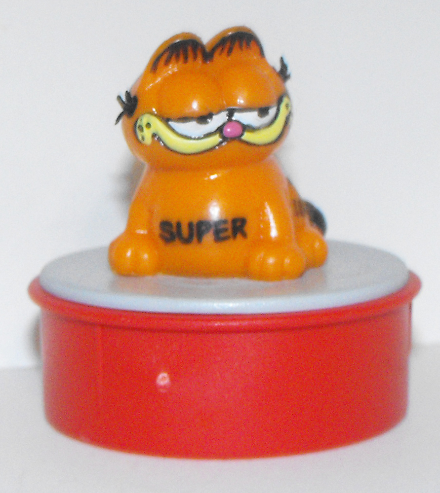 "Garfield Sitting ""Super"" Red Ink Stamp"