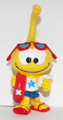 All Star Snork Figurine Going to the Beach Miniature Figure Snorks Cartoon