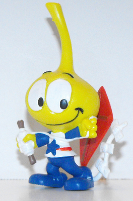 All Star Snork Flying a Kite Figurine Miniature Figure Snorks Cartoon