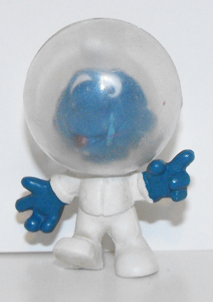 Astro Smurf Vintage Plastic Figurine 20003