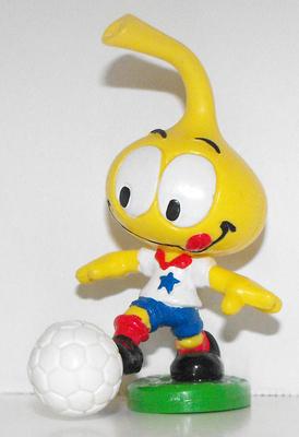 All Star Snork Kicking Soccer Ball Plastic Figurine Miniature Figure Snorks Cartoon