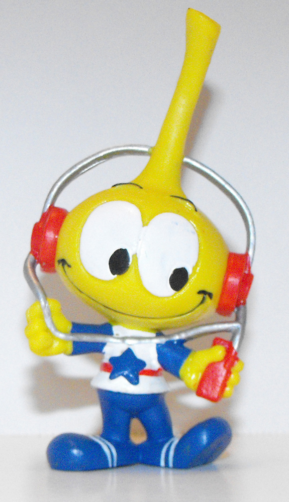 All Star with Headphones Snork Figurine iPod Miniature Figure Snorks Cartoon
