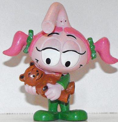 Casey with Teddy Bear Snork Figurine Miniature Figure Snorks Cartoon