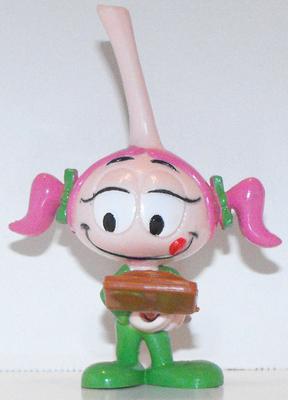 Casey with Pizza Plastic Snork Figurine Miniature Figure Snorks Cartoon