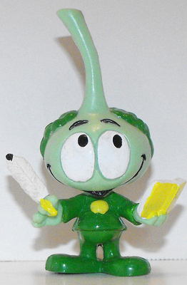 Tooter Snork with Book Plastic Figurine Miniature Figure Snorks Cartoon