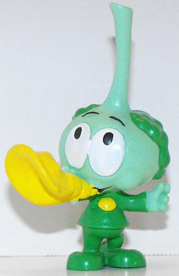 Tooter Snork with Horn Plastic Figurine Miniature Figure Snorks Cartoon