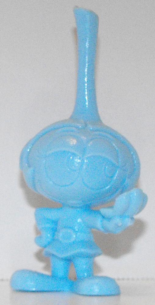Blue Daphne with Mirror One Color Figurine Miniature Figure Snorks Cartoon