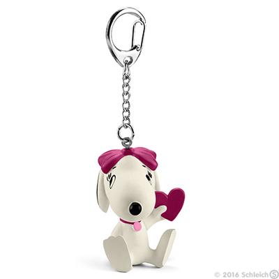 Belle with Heart Figurine Keychain Peanuts Miniature Figure Key Chain