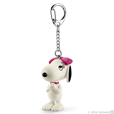 Happy Belle Snoopy's Sister Figurine Keychain Peanuts Miniature Figure Key Chain