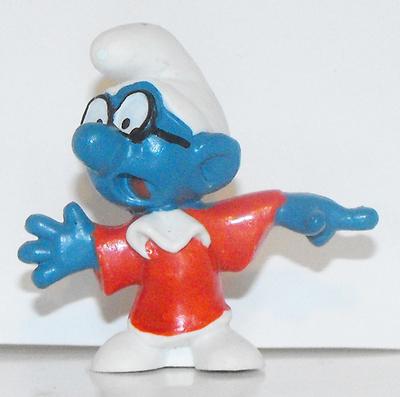 Judge Smurf Vintage Plastic Figurine 20016