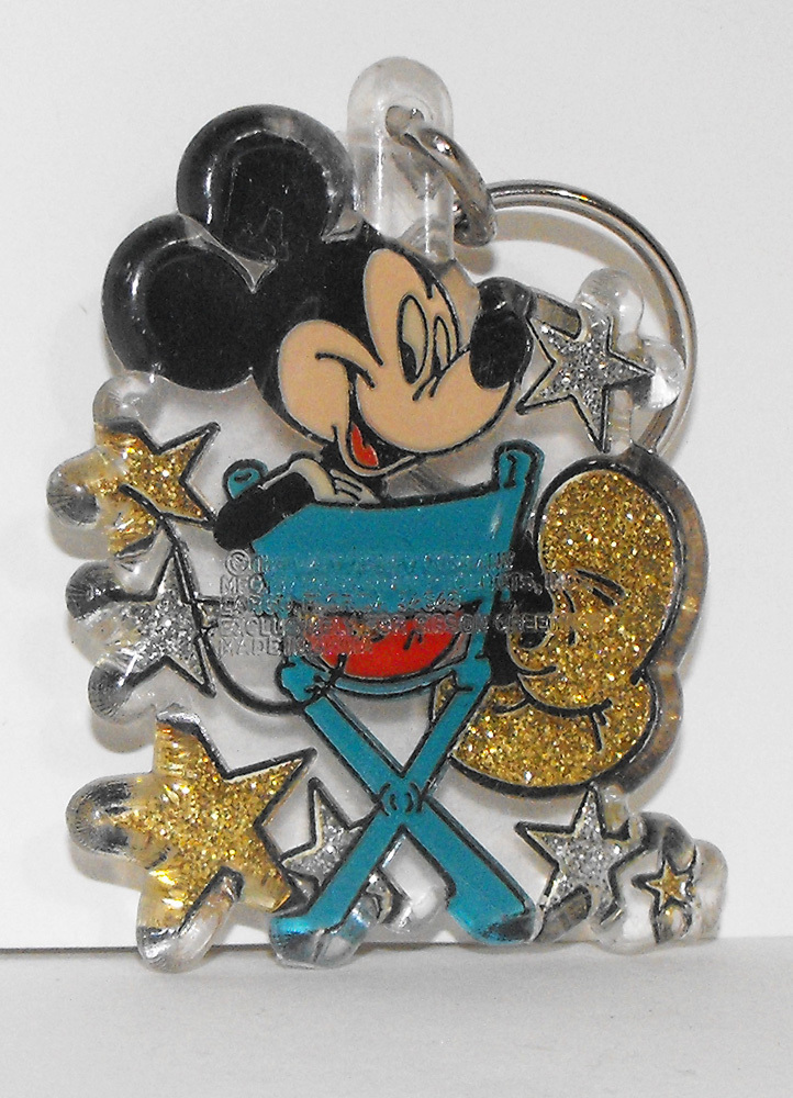 Mickey Mouse On Director's Chair Keychain Key Chain