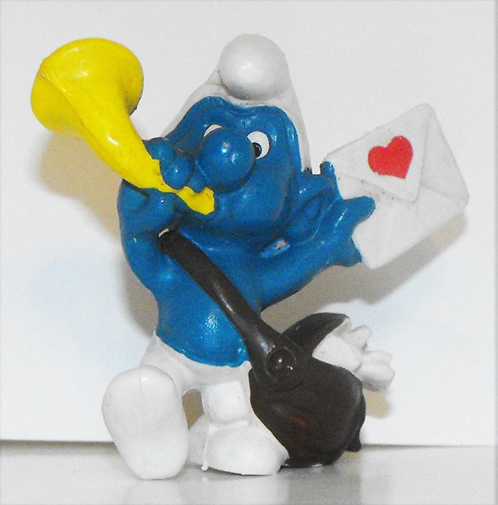 Postman Smurf Vintage Plastic Figurine 20031
