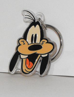 Goofy Head Plastic Disney Keychain Key Chain