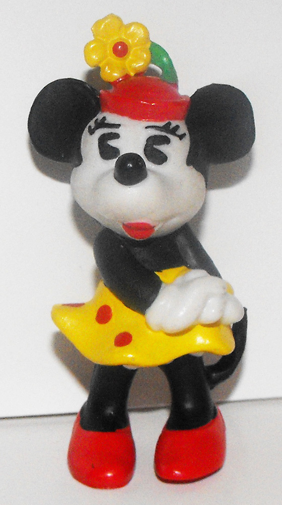 Minnie Mouse Sideways Color Classic 2 inch Plastic Figure