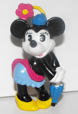 Minnie Mouse Umbrella Color Classic 2 inch Plastic Figure