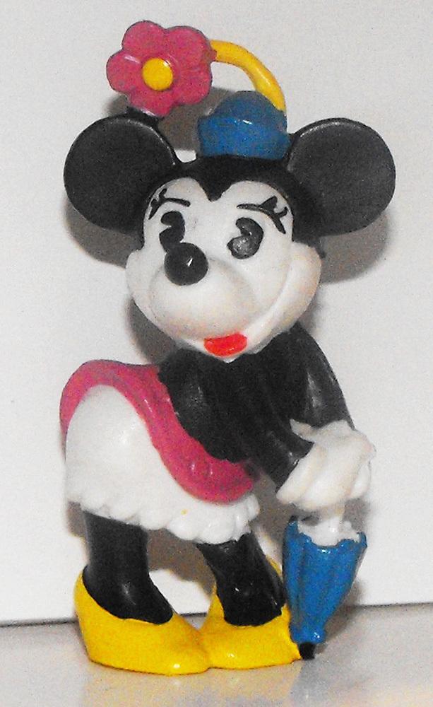 Minnie Mouse Umbrella Color Classic 2 inch Plastic Figure