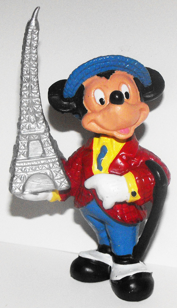 Mickey Mouse from France Plastic 3 inch Plastic Figurine French Figure