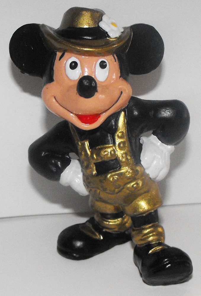 Mickey Mouse from Sweden Gold Plastic 3 inch Plastic Figurine