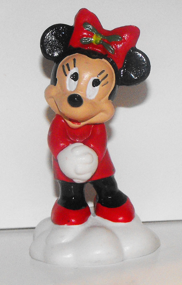 Minnie Mouse Angel Christmas 2 inch Plastic Figurine