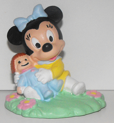 Baby Minnie Mouse with Doll 2 inch Plastic 2 inch Plastic Figurine