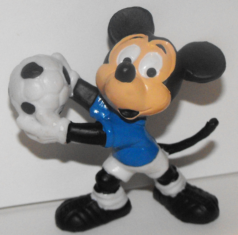 Mickey Mouse Soccer Goalie 2 inch Plastic Figurine
