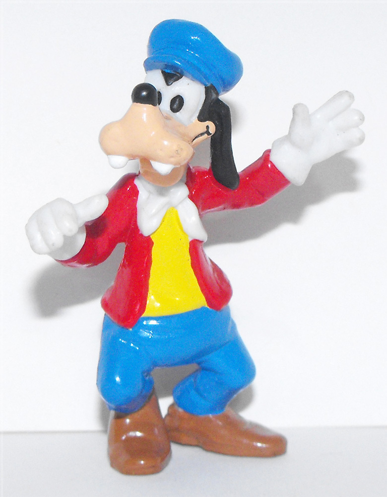 Goofy in Red Jacket & Blue Hat 2 inch Plastic Figurine