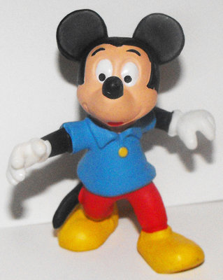 Mickey Mouse in Blue Shirt 2 inch Figurine