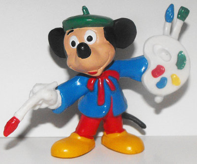 Mickey Mouse Artist 2 inch Plastic Figure