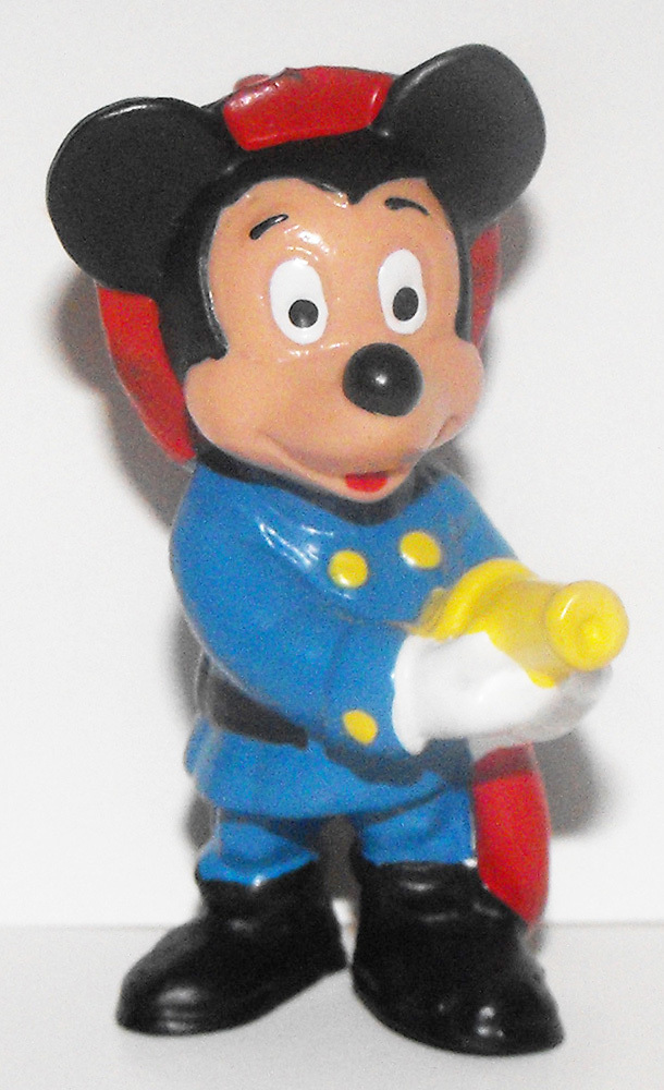 Mickey Mouse Fireman 2 inch Plastic Figure