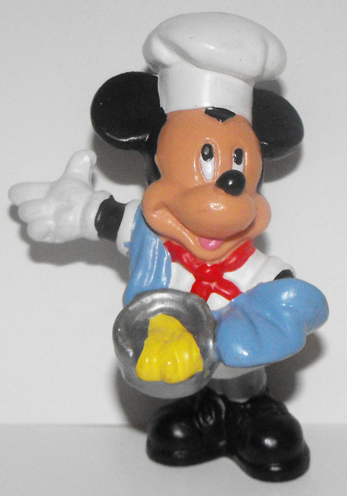 Mickey Mouse Chef Cook Baker 2 inch Figure
