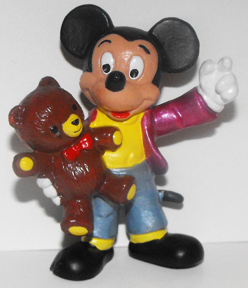 Mickey Mouse with Teddy Bear 2 inch Figure